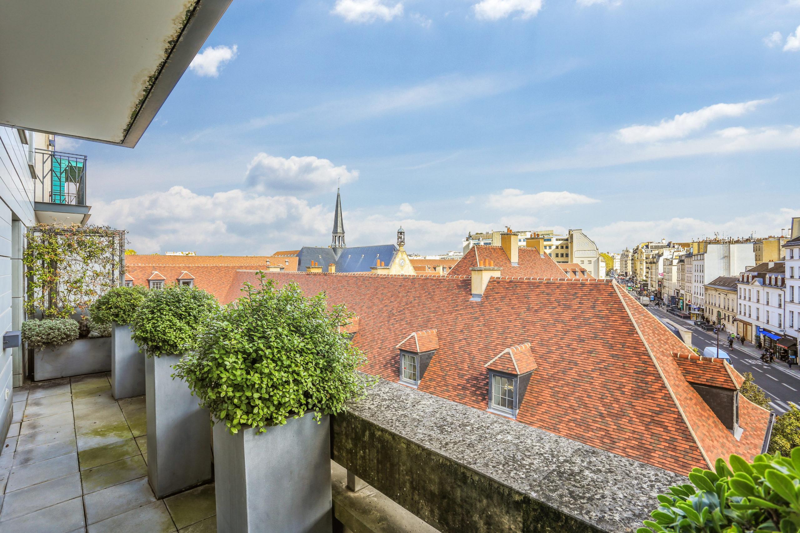 Appartement en étage élevé – Pas de vis à vis – Terrasse